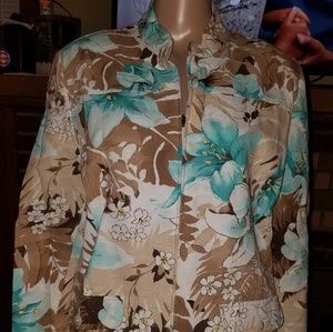 Alfred Dunner brand, size 12 floral zip jacket